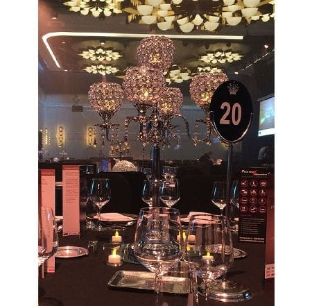 candelabra crystal centrepieces for hire