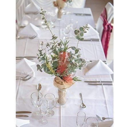 floral centrepieces for hire