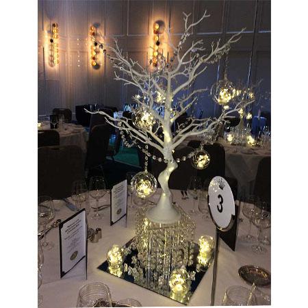 manazita tree centrepieces for hire