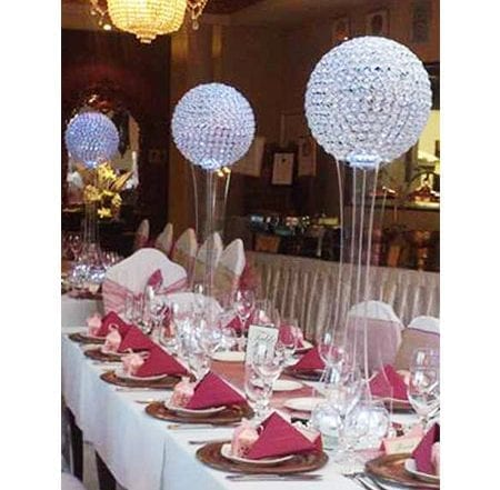 tall crystal orbs for hire