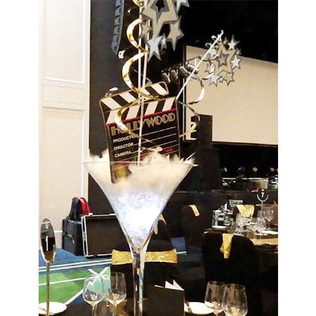 Hollywood Theme centrepiece hq for hire