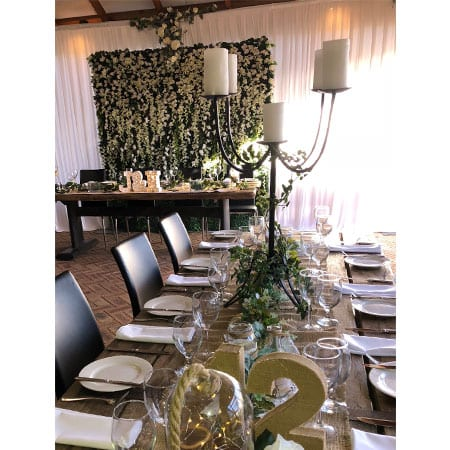 Rustic Candelabra centrepiece hq for hire