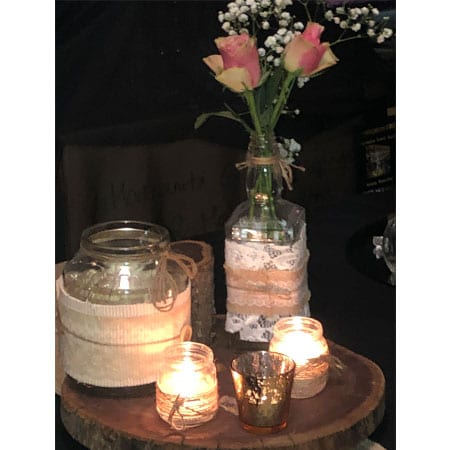 Rustic centrepiece hq for hire