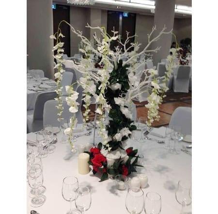 garden theme manzanita tree centrepiece hq for hire