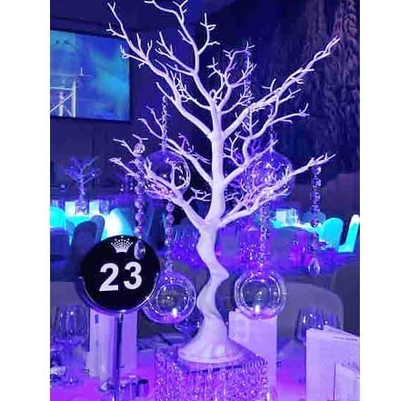 manzanita tree centrepiece hq for hire