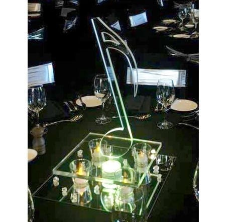 Music themed centrepiece featured